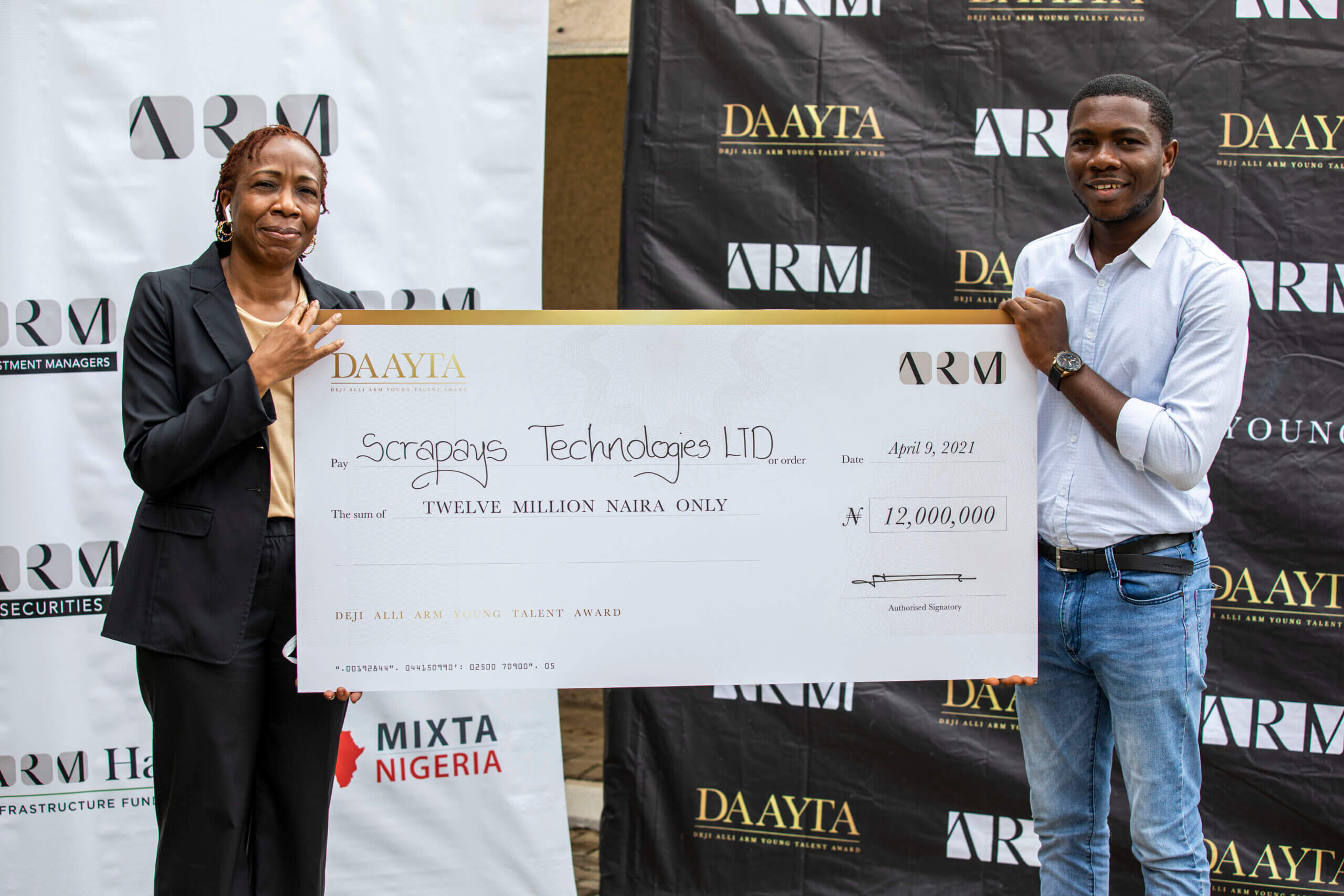 ARM wraps up DAAYTA 2021, announces winner of ₦12m grant