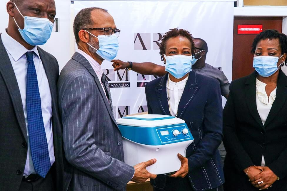 ARM Holding Company Ltd Renovates Onikan General Hospital's COVID-19 Outpatient Clinic, Donates Medical Equipment