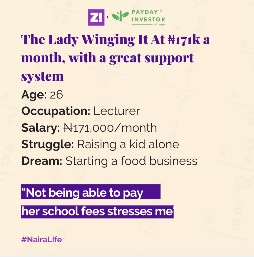 The Lady Who's Winging It On A ₦171k Salary